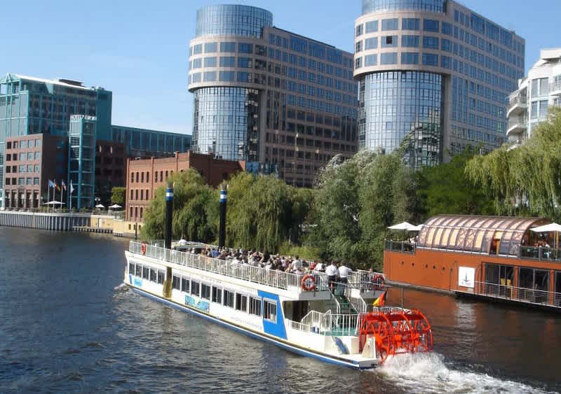 Paddle steamer Europe on a Spree tour in Berlin Moabit