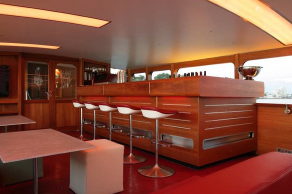 Bar on the party boat Stralau