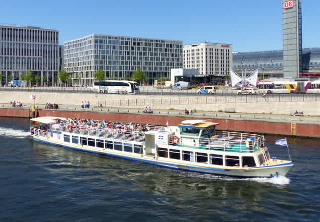 Party ship Bon Ami on the Spree near Berlin Central Station