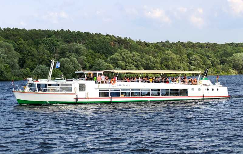 Passenger ship Havelglück on a boat tour through Berlin