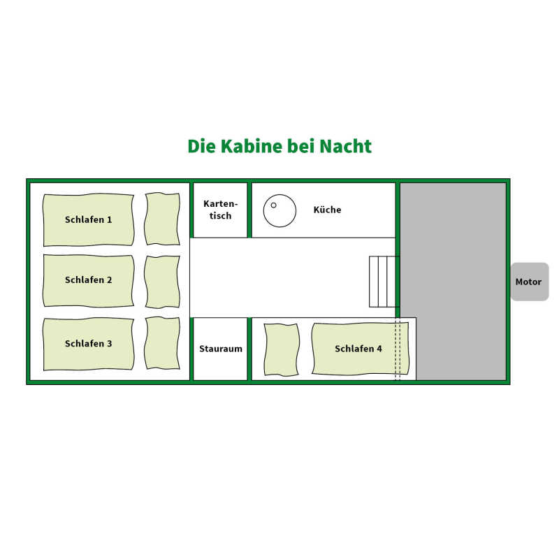 Floor plan of the bedroom
