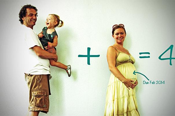 10 ideas de tarjetas para anunciar el embarazo