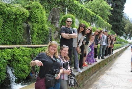 Students and faculty studying abroad.