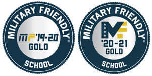 2019 through 2021 Military Friendly Gold School Awards