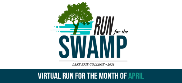 run for the swamp; lake erie college; 2021; virtual run for the month of april