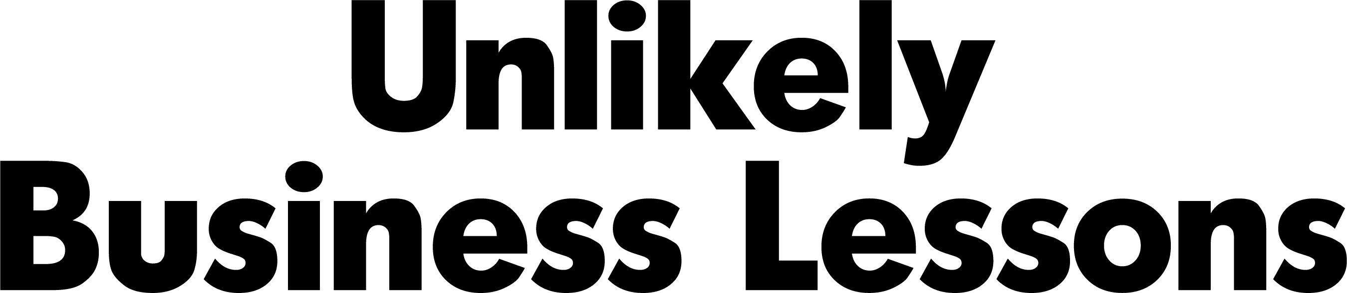 Unlikely Business Lessons logo