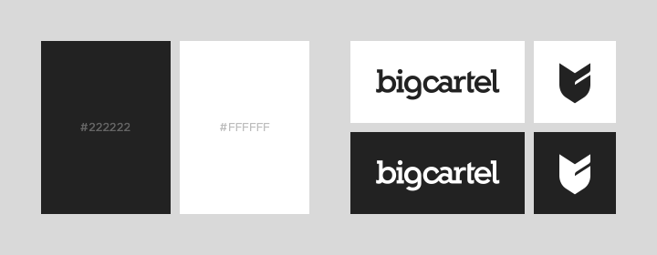 Big Cartel brand colors