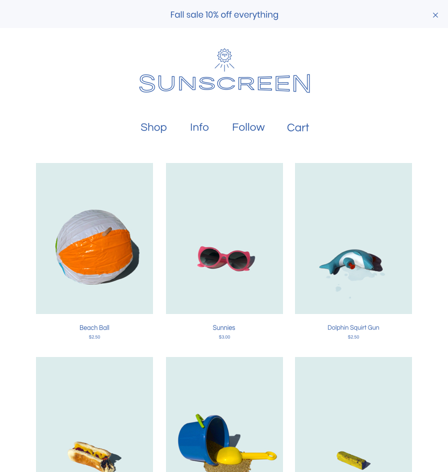 Sunscreen Cover