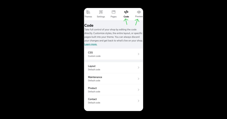 mobile-edit-theme-code