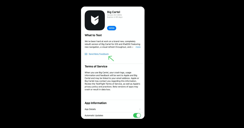 iOS-send-beta-feedback