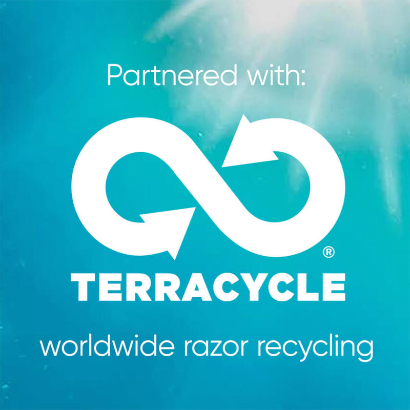 Partnered with: Terracycle, worldwide razor recycling