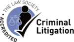 The Law Society Accredited - Criminal Litigation logo