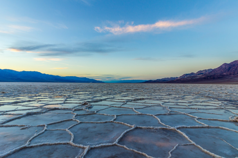 Badwater Basin at sunset, Death Valley National Park