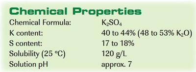 potassium sulfate-chemical properties