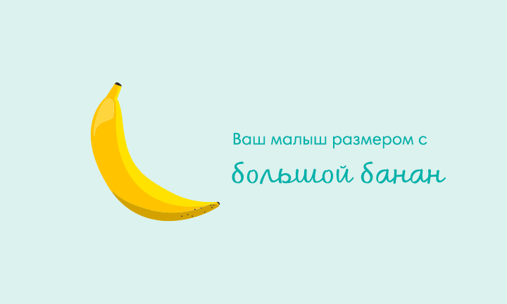 Your baby is the size of a banana