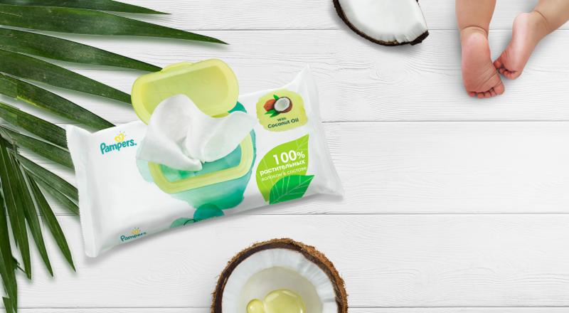 Pampers® Pure c кокосовым маслом
