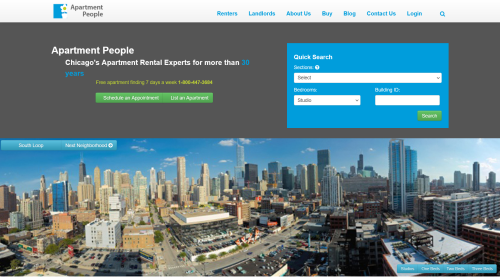screenshot of apartmentpeople.com top fold from 2010