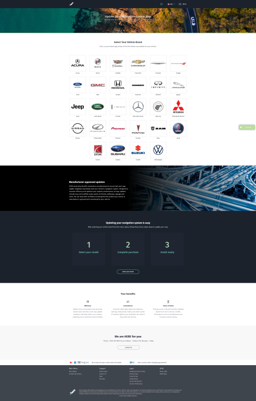 screenshot of navigation.com home page.