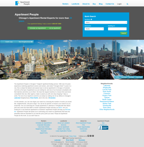 screenshot of apartmentpeople.com full home page from 2010