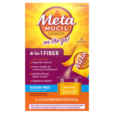 Metamucil Sugar Free Orange Fiber Singles