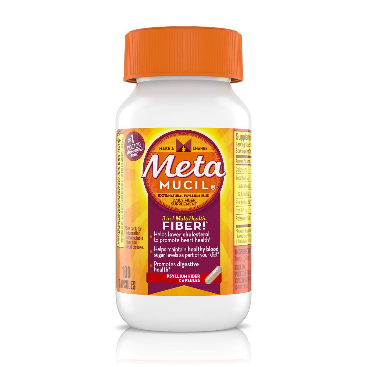 Metamucil Fiber Capsules Fiber Pills Metamucil
