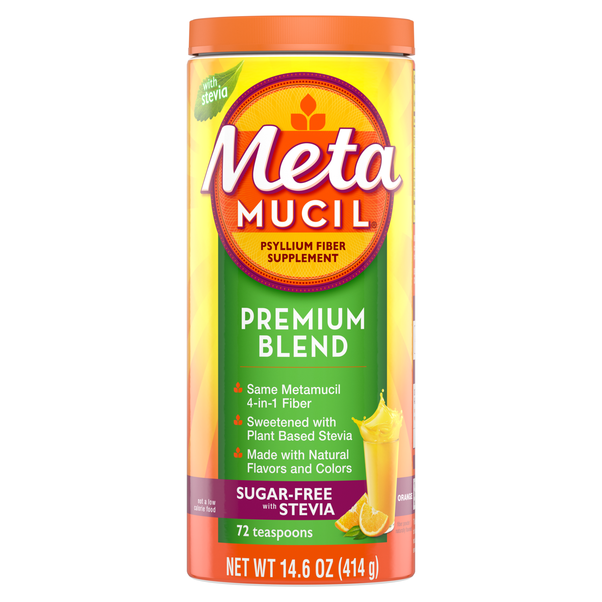 METAMUCIL PREMIUM BLEND ORANGE SUGAR FREE POWDER