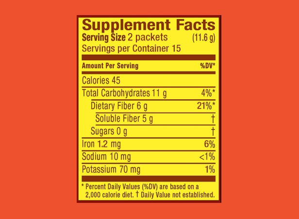 Meta Packets-Supplement Facts