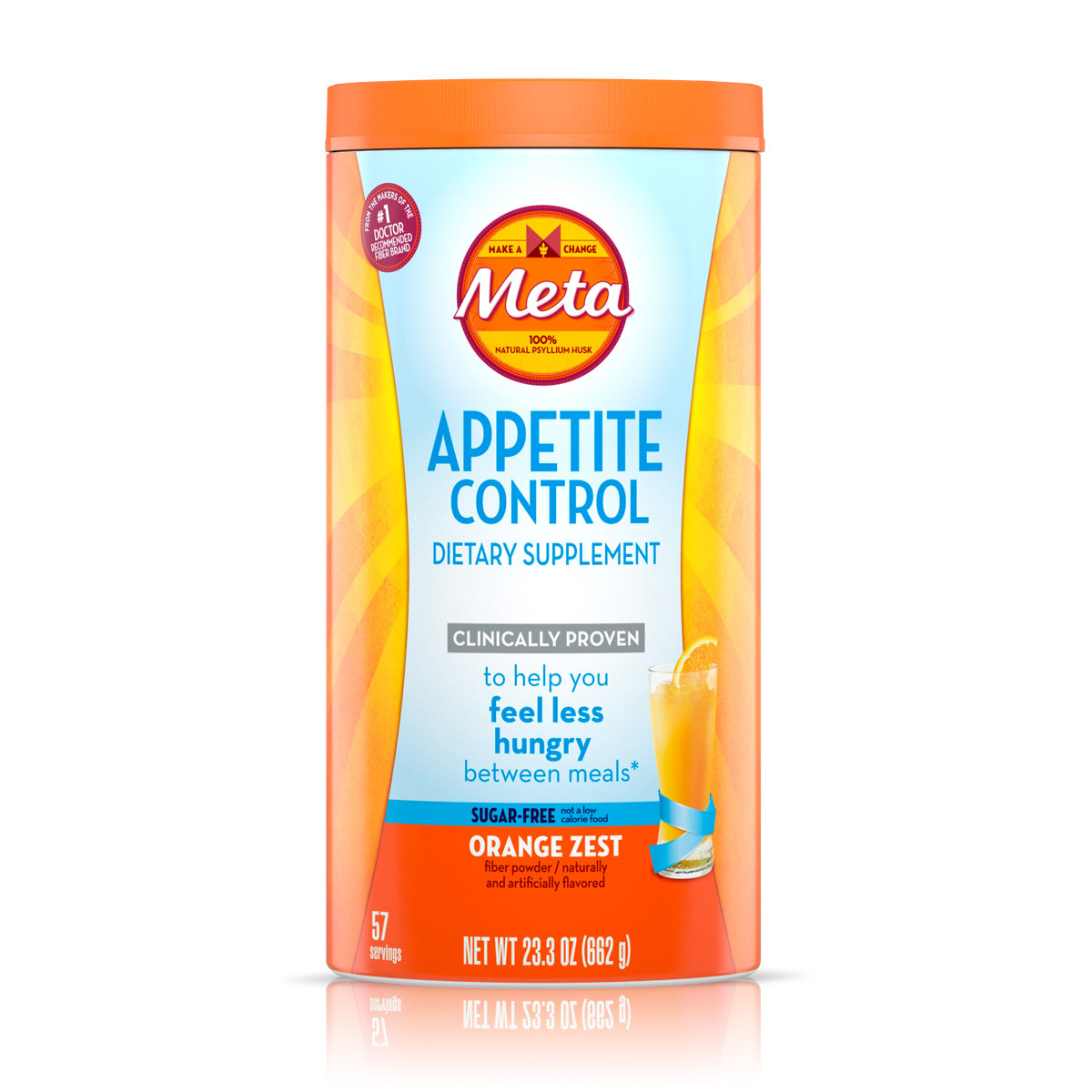 META APPETITE CONTROL FIBER SUPPLEMENT SUGAR-FREE ORANGE ZEST