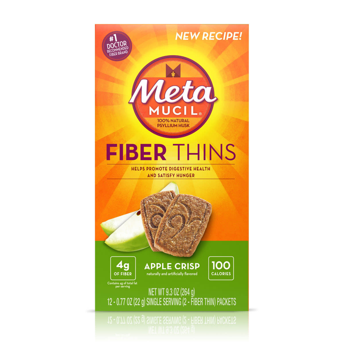 METAMUCIL FIBER THINS APPLE CRISP