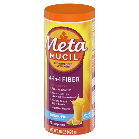 Metamucil Sugar Free Orange Smooth Fiber Powder | Metamucil®