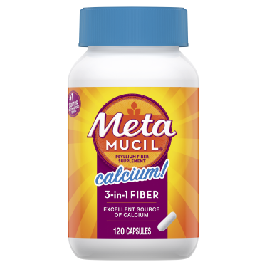 Metamucil Fiber Capsules Plus Calcium