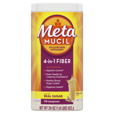 Metamucil Multi-Health Unflavored Powder with Real Sugar