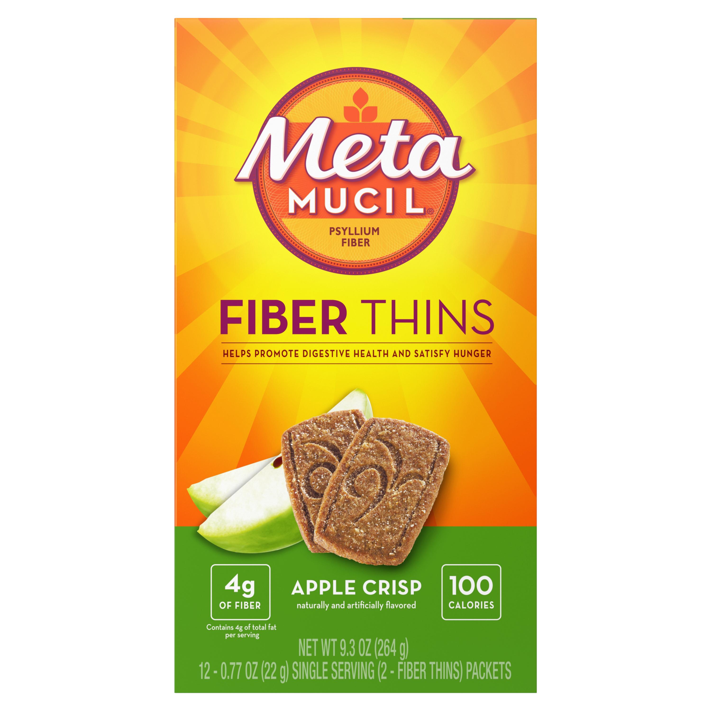 Metamucil Fiber Thins Apple Crisp Fiber Cookies Metamucil
