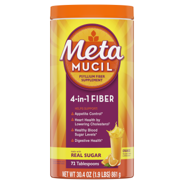 METAMUCIL ORANGE SMOOTH POWDER WITH REAL SUGAR