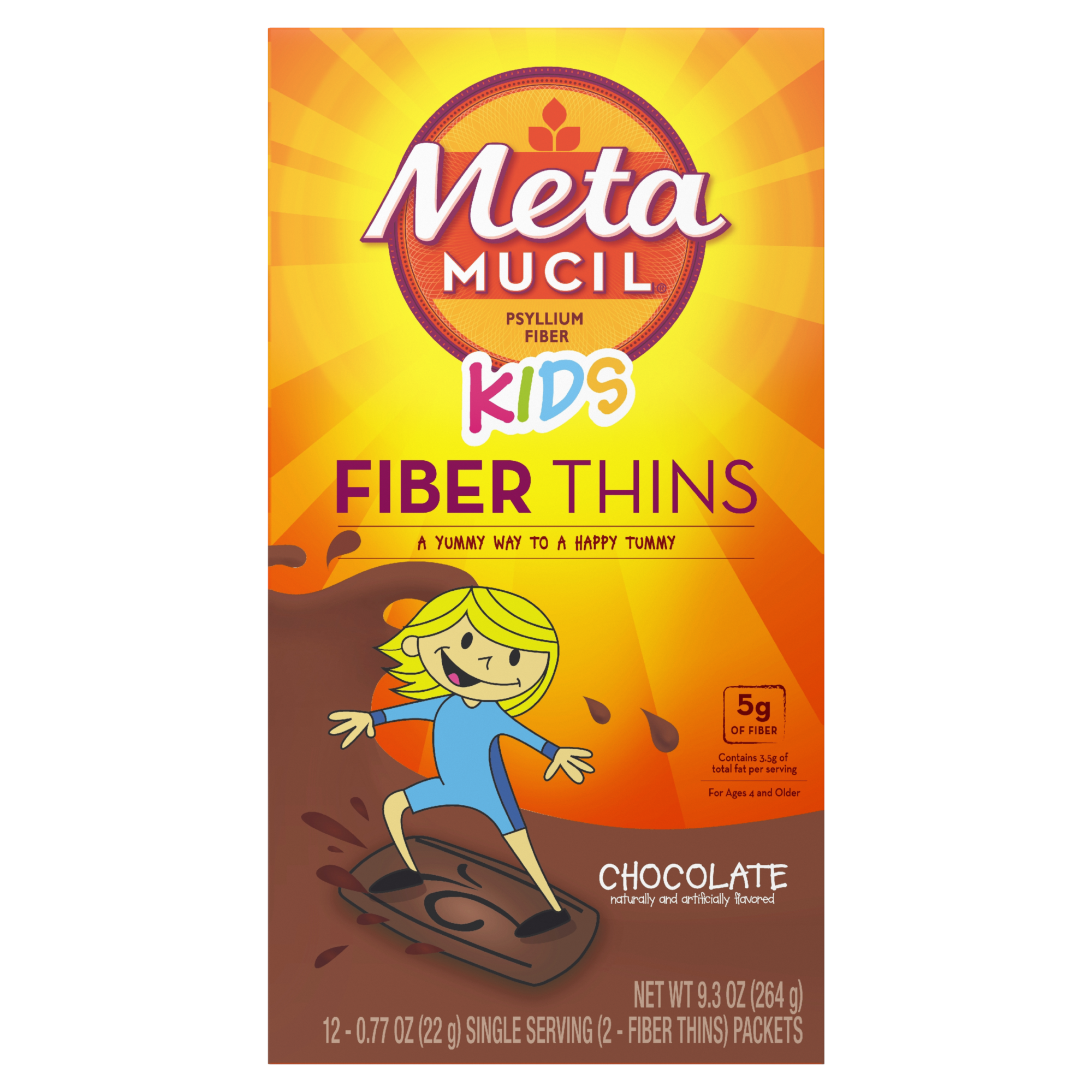 METAMUCIL KIDS FIBER THINS CHOCOLATE
