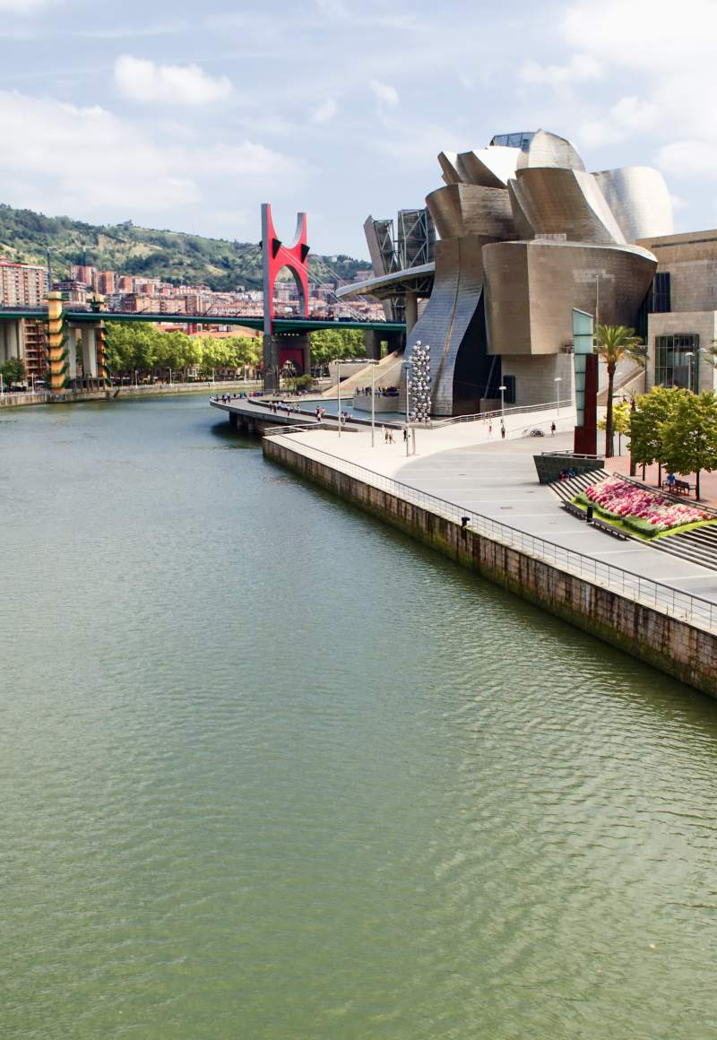 View of the Guggenheim Museum in Bilbao