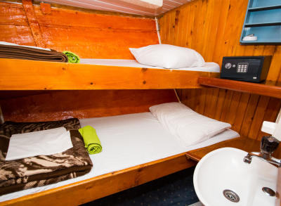 Madona wooden cabin room