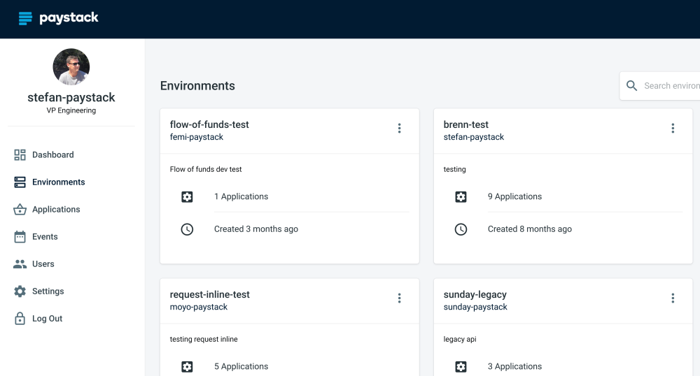 <i>The developer user interface for creating on-demand environments</i>