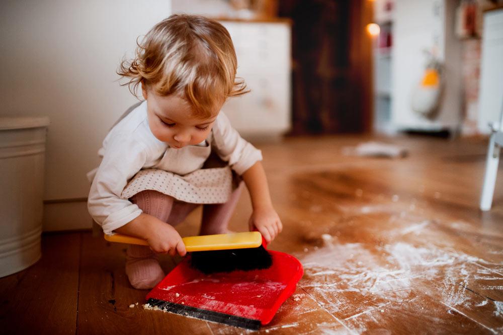 Toddler Sweeping