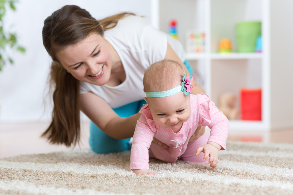 Baby Mom Crawling
