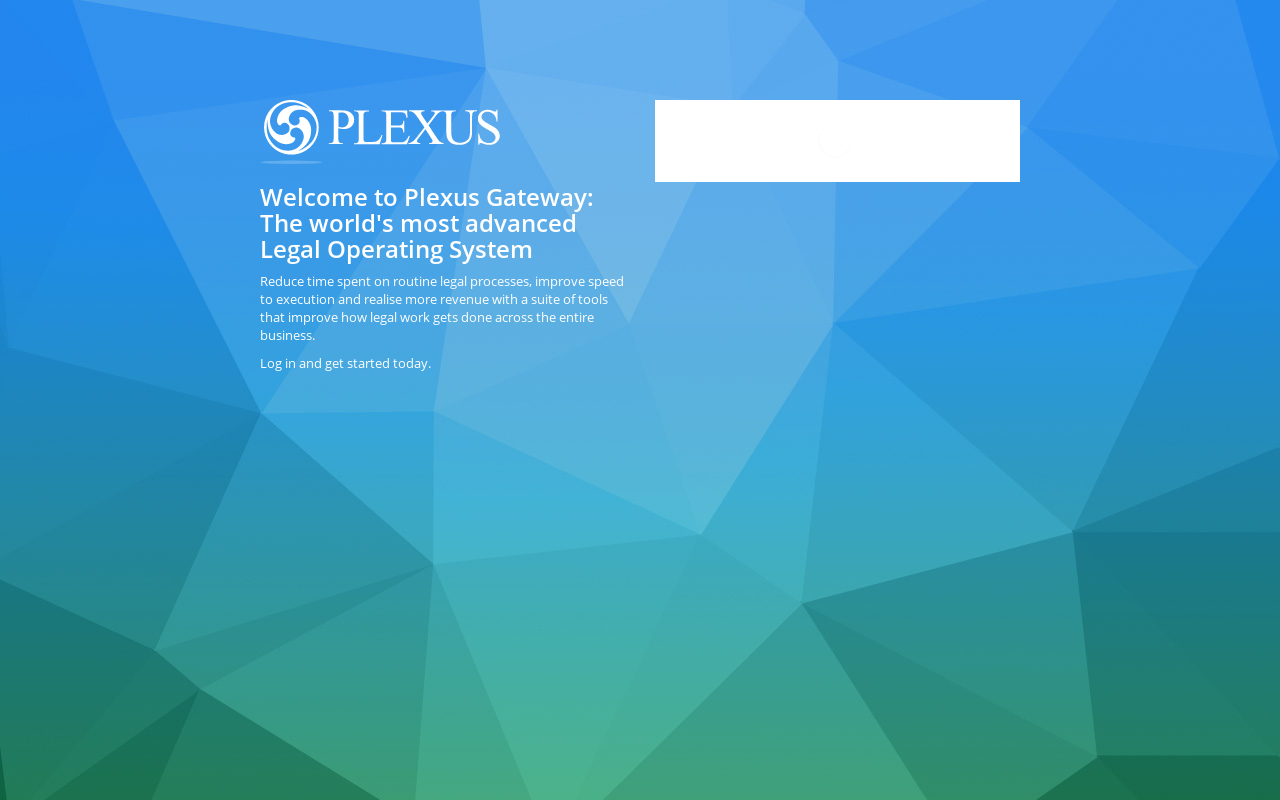 Product screenshot of Plexus