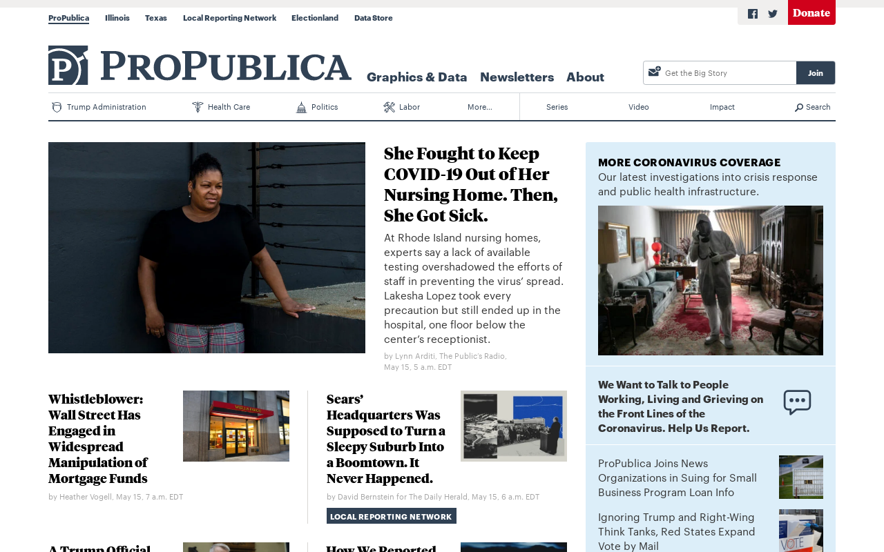 Product screenshot of ProPublica