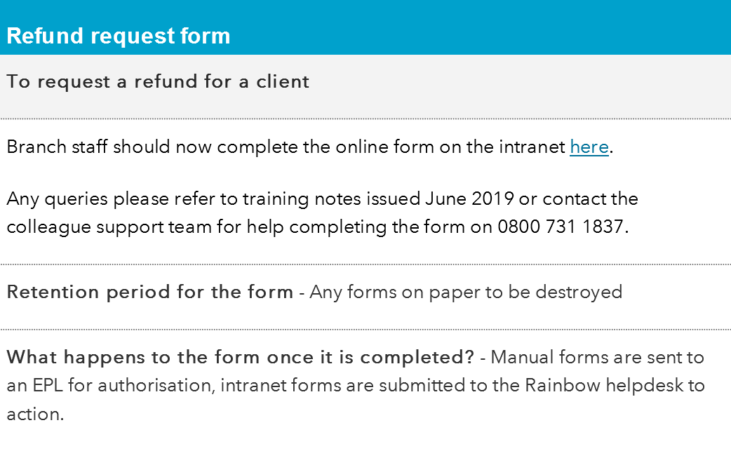 Refund Request Form Co Op Colleagues