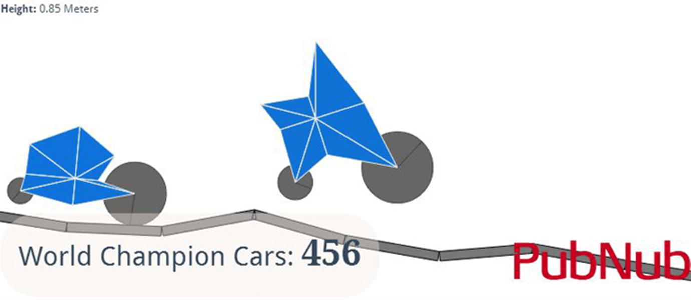 GenCar.co: Multiplayer Genetic Algorithm 2D Cars