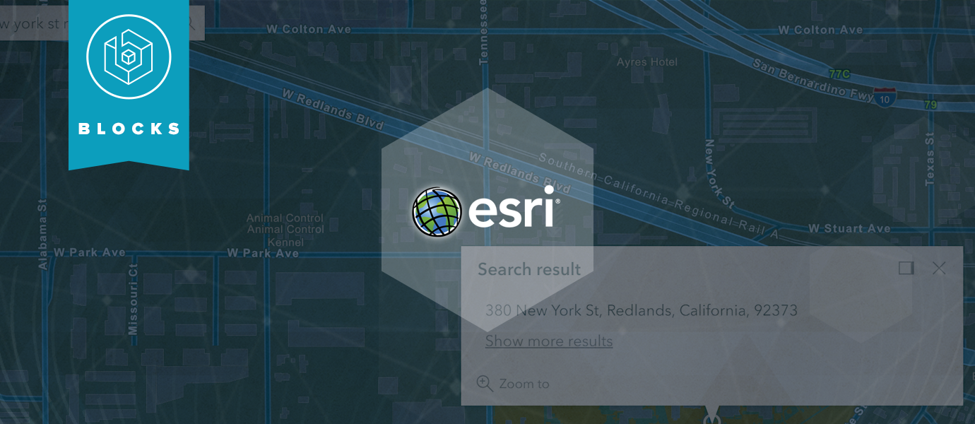 Realtime ArcGIS Geocoding with the Esri Geocoding BLOCK