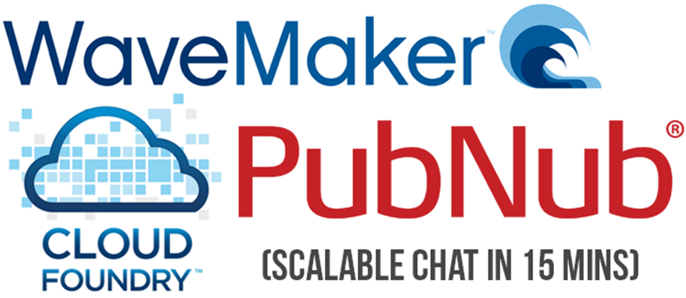 WaveMaker and Cloud Foundry Scalable Chat App in 15 Minutes