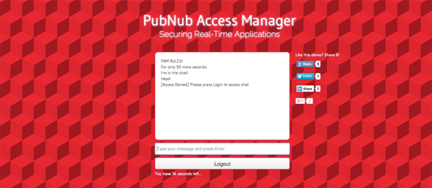 Secure Chat Using PubNub Access Manager