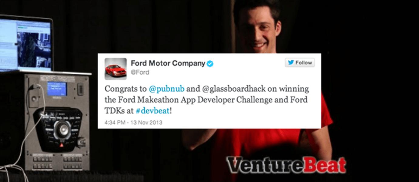 PubNub Wins Ford Motor Company & VentureBeat Makeathon