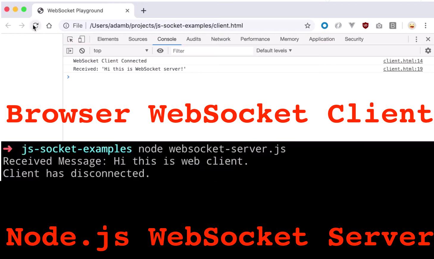 Node.js WebSocket Full Stack App