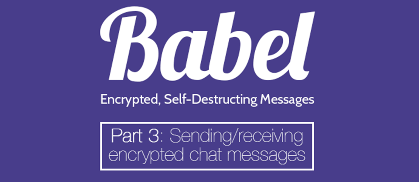 Sending Encrypted Chat Messages
